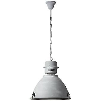 BRILLIANT lampe Kiki pendel lampe 48cm grå beton   1x A60, E27, 60W, egnet til normale lamper (ikke inkluderet)   Skala
