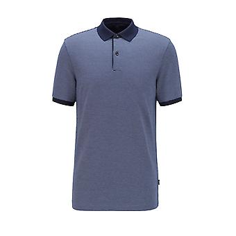 BOSS Casualwear Boss Casualwear Penrose 28 Slim Fit Polo Shirt Dark Blue
