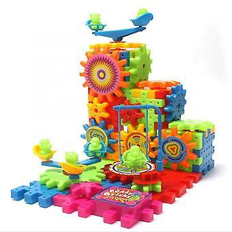 plast barn elektriske tannhjul byggeklosser murstein barn puslespill pedagogisk leketøy spillet gave