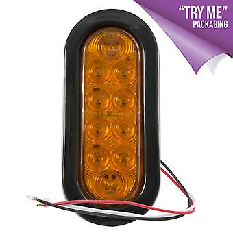 "Blazer Lighting C561ATM Led 6"" Oval Park/Turn (Amber) Kit with Grommet & Plug"
