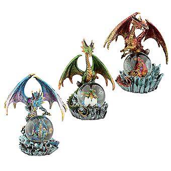 Crystal Orb Dark Legends Dragon Waterball Snow Globe X 1 Pack