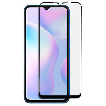 Screen protector for Xiaomi Redmi 9A / 9C Beveled Tempered Glass - black outline