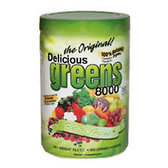 Greens World Inc Delicious Greens 8000, Mocha Cafe Flavor 10.6 oz