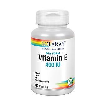 Solaray יבש מויטמין E, 400 IU, 100 כמוסות