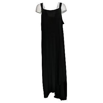 BROOKE SHIELDS Timeless Plus Dress Sleeveless Maxi Black A307769