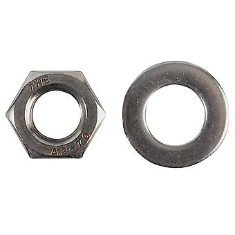 Forgefix Hexagonal Nuts & Washers A2 SS M12 Forge Pack 6 FORFPNUT12SS