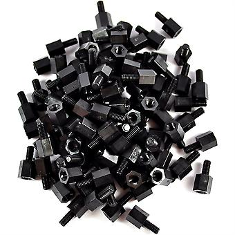 100pcs M3 Male Female 6mm Nylon Standoffs