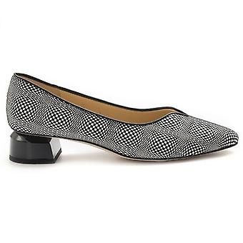 Brunette Women's Shoe In Black and White Optic Leather