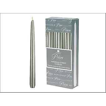 Prices Venetian Tapered Candle Silver 10in VW101030