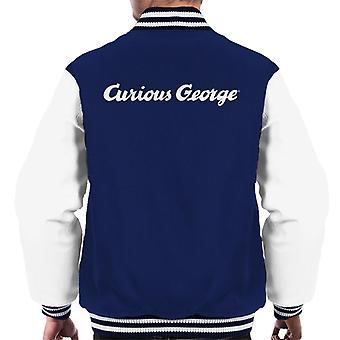 Neugierige George Line Logo Men's Varsity Jacke