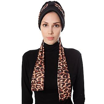 Turban With Leopard Pattern