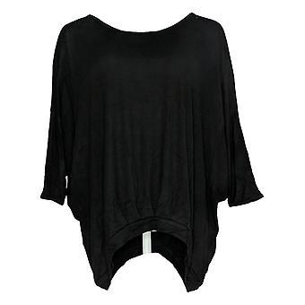 DG2 di Diane Gilman Women's Top Black Tunic Cold Shoulders 677-912