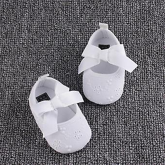 Lovely Infant Kids Baby Bowknot Crib Shoes Soft Shoes Sneaker First Walkers
