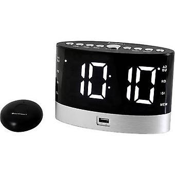 soundmaster UR580SW راديو المنبه FM FM FM, USB بطارية شاحن أسود