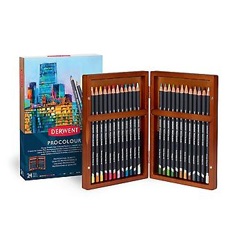 Derwent Procolour 24 Wooden Box Set