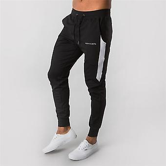 Männer Casual Skinny Pants Gyms Fitness Workout Brand Track Herbst Winter