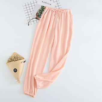 New Couple 100% Cotton Gauze Crepe Sleep Bottoms Pajama Shorts Pants