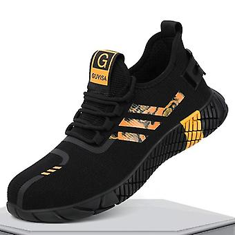 Pustende sikkerhetsstøvler med stål tå cap casual arbeid uforgjengelig sko