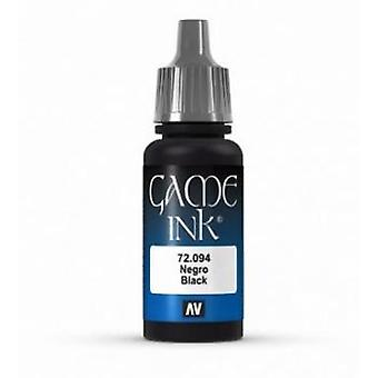 Vallejo Game Color 17ml Acrylic Paint 94 Black Ink