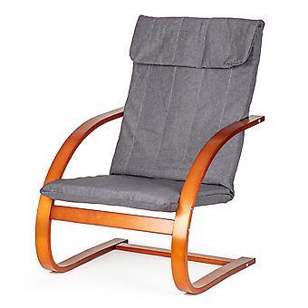 Sedia a dondolo - reclinabile - marrone con grigio