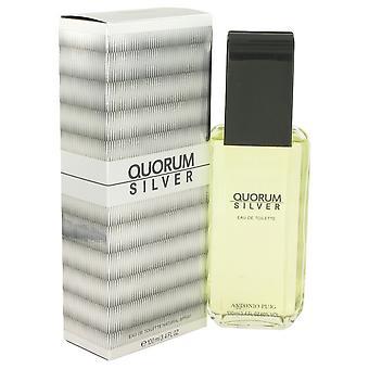Quorum Silver by Puig Eau De Toilette Spray 3.4 oz / 100 ml (Men)