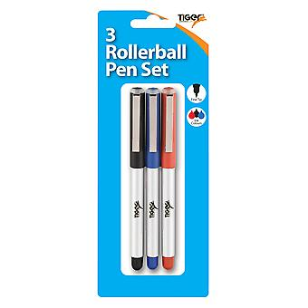Tiger Stationery Rollerball Pen (Pack of 3)