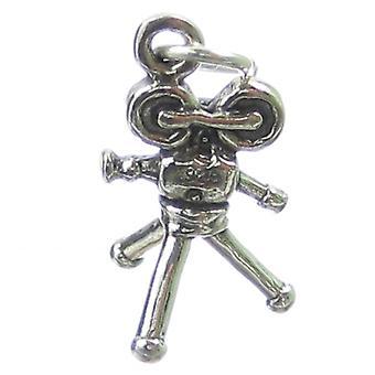 Movie Camera Sterling Silver Charm .925 X 1 Movies Cameras Film Charms - 2128