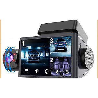 מכונית Dvr מקף מצלמה 3 מצלמות לילה חזון Dvr מקף מצלמת צג רכב וידאו