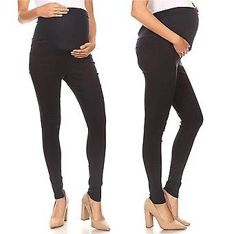 Mutterschaft Jeans Hose verstellbare Taille schlanke Schwangere Frauen Schwangerschaft Denim