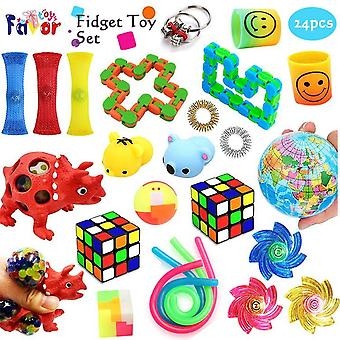 Favor Toys 24pcs. Fidget Legetøj Sæt til børn og voksne