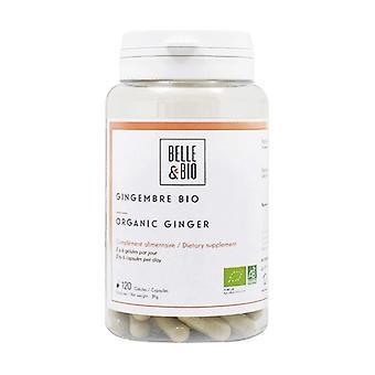 Organic ginger 120 vegetable capsules