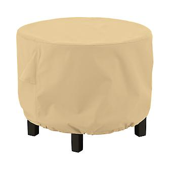 Classic Accessories Terrazzo Round Ottoman/Coffee Table Cover - All Weather Protection Outdoor Furniture Cover, Large (55-912-042001-Ec)