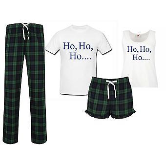 Ho Ho Ho Tartan joulu pyjama parit setti