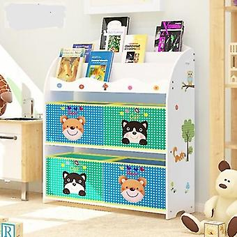 Children Cabinet Furniture Wooden Bookshelf / Bookcase Baby Toy Rack/ Storage
