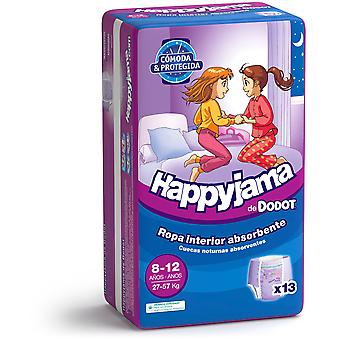 Dodot Happyjama Taille 8-12 Fille 13 Unités