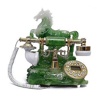 ヴィンテージ アンティーク レトロ 発信者 ID ハンドセット デスク ウッド 電話 ハンドフリー 馬