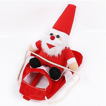 Joulu joulupukki lemmikki koira naamiaispuku takki puku vaatteet