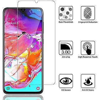 HaiFei 3 Stcke Schutzfolie fr Samsung Galaxy A70 - Ausrichtungsrahmen Einfache Installationsblase