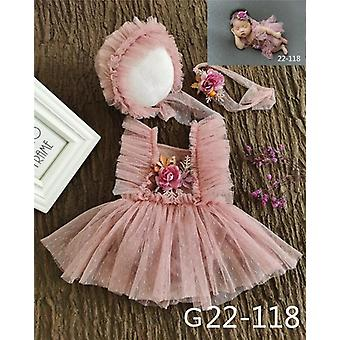 Photography Props Baby Hat Headband Lace Romper Bodysuits Outfit Dress Costume
