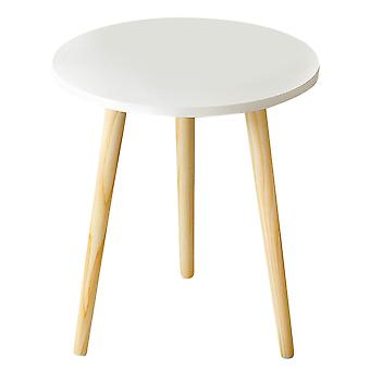 1 Pc Creative Nordic Style Round Table Coffee Tea Table Practical Wood Table For Home Living Room (white)