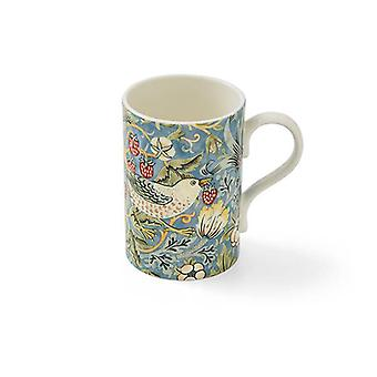 Morris and Co Strawberry Thief Blue Mug