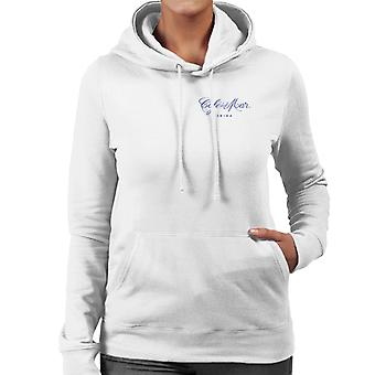 Cafe del Mar Classic Blue Logo Pocket Print Women's Hooded Sweatshirt