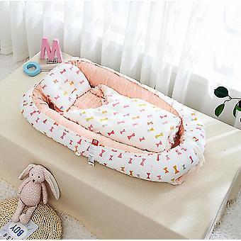 Newborn Crib Portable Travel Bed, Velvet Baby Sleeping Basket