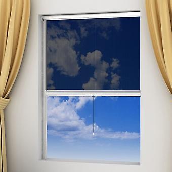 Grille d'insectes enroulées blanches pour fenêtres 120 x 170 cm