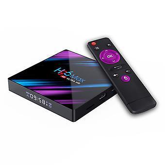 Android TV Box Android 10.0 Smart Media Box 【4G + 64G】 RK3318 Czterordzeniowy 64-bitowy Cortex-A53 4K Ultra HD Obsługuje dwuzakresowe WiFi 2.4G / 5GHz Ethernet 100M USB 3.0 Box Android TV (Czarny)