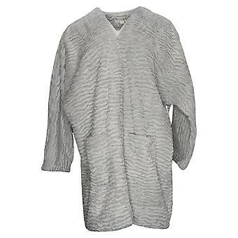 Koolaburra By UGG Women's Sweater Textured Faux Fur Wrap Gray A386544