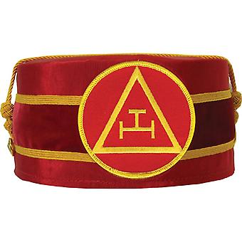 Arco real masonic triple tau cap rojo