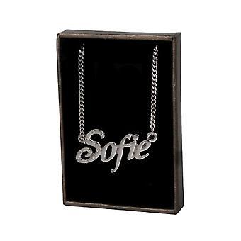 KL Kigu Sofie - 18 Karat weiß vergoldet Frauen halskette, anpassbar mit Namen, trendiges Juwel, Geschenk für Ref. 4963303148823
