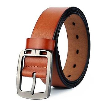 Men's Brown Leather Fashion Casual Belt