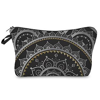 Cosmetic Bags For Women, Travel Toiletry Organizer With Zipper (mandala Flower Design)